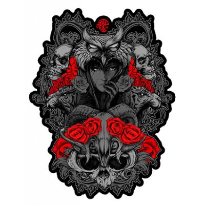 Наклейка Owl Skull Rose