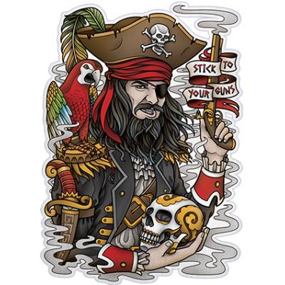 Наклейка Pirate (Пират)
