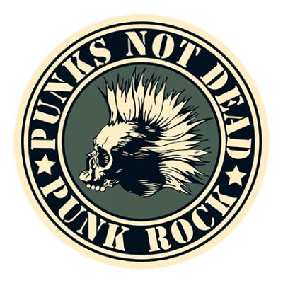 Наклейка Punks Not Dead Punk Rock
