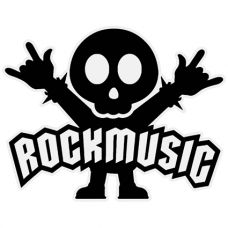 Наклейка Rock Music