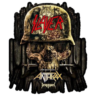 Наклейка Slayer Anthrax Death Angel