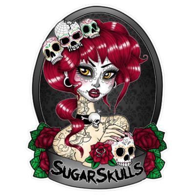 Наклейка Sugar Skull