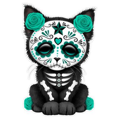 Наклейка Sugar Skull Cat