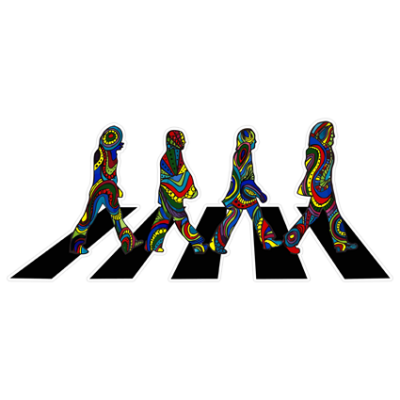 Наклейка The Beatles Abbey Road