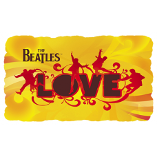 Наклейка The Beatles Love