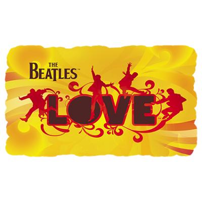 Наклейка The Beatles Love