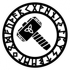 Наклейка Hammer Of Torus (Молот Тора)