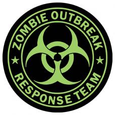 Наклейка Zombie Outbreak (Зомби)